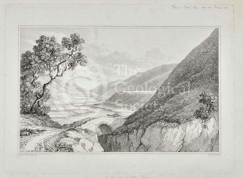 'View of the Terraces at the top of Glen Roy'