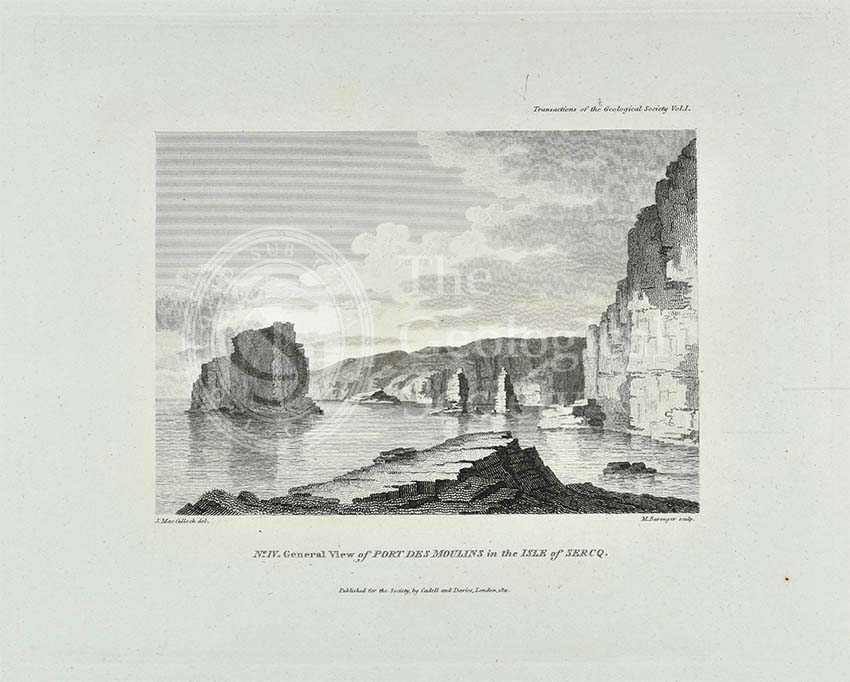 'General view of Port Des Moulins in the Isle of Sercq'
