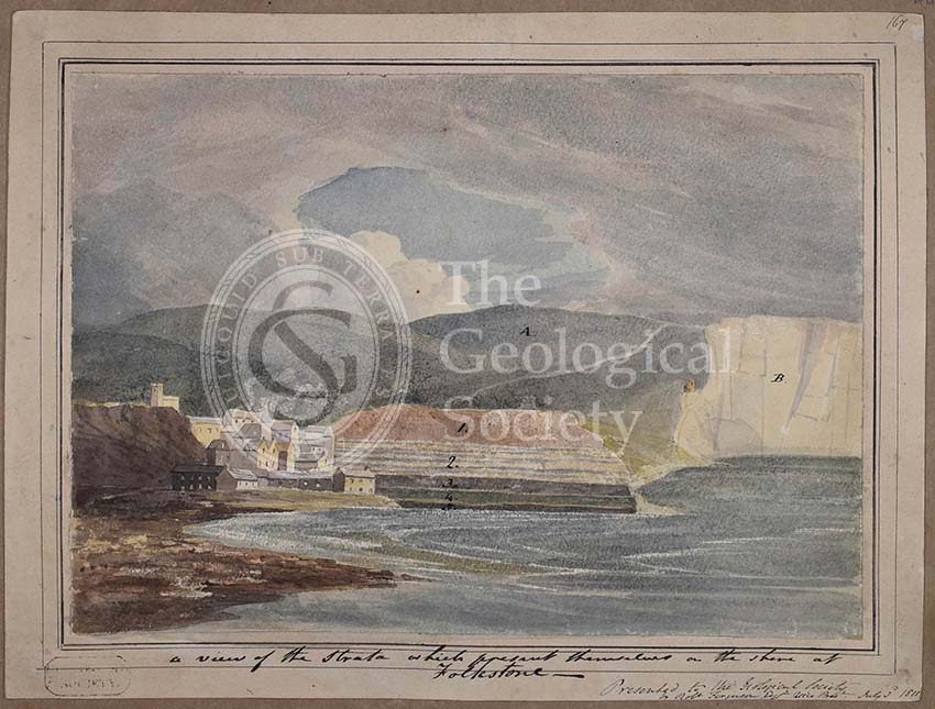 'A view of the strata which present themselves on the shore of Folkestone'