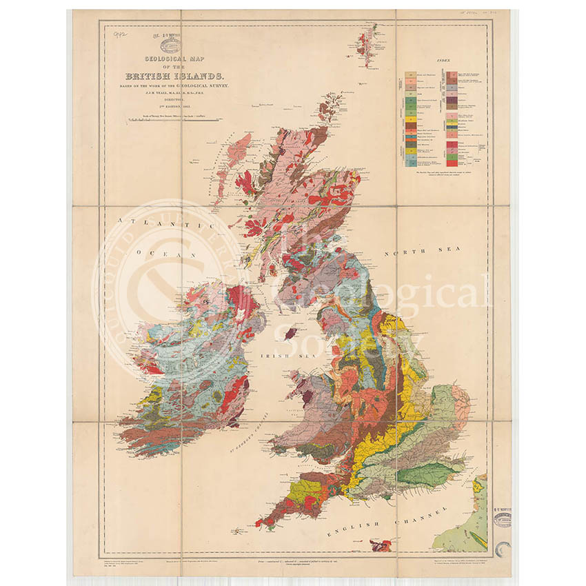 Geological Map of the British Isles (Teall, 1912)