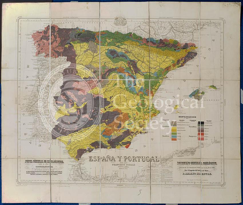Mapa Geologico de España y Portugal (Coello, 1864)