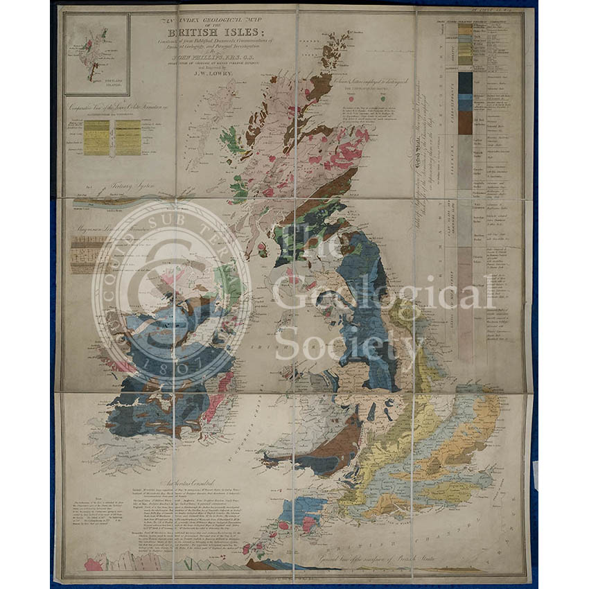 Geological map of the British Isles (Phillips, 1838)