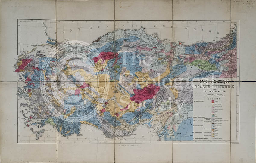 Carte géologique de l'Asia Mineure (Tchihatcheff, 1867)