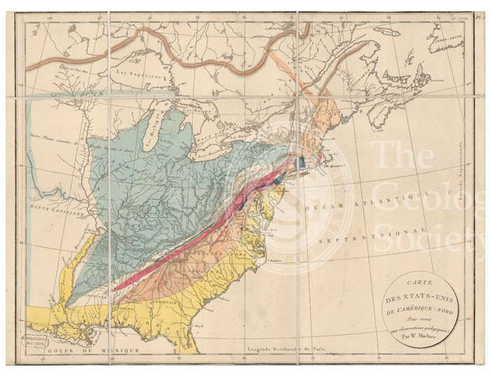 Carte des Etats-Unis de l'Amerique-Nord [Map of North America] (Maclure, c. 1809)