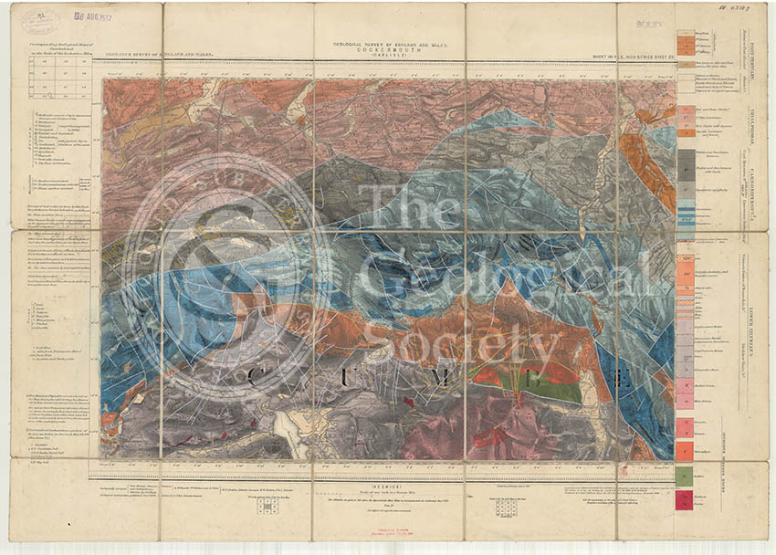 Geological map of England and Wales, Sheet 101 NE Cockermouth (1890)