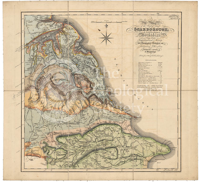 Geological map of Scarborough (Smith, 1831)