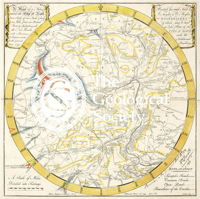 Reconstruction of William Smith's Geological Map of Bath (1799) (Lam, 2014)