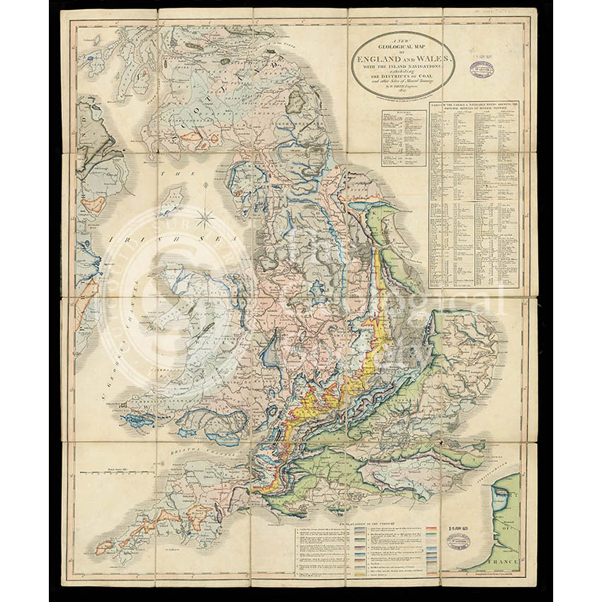A New Geological Map of England & Wales… [Smith reduction] (Smith & Cary, 1827)