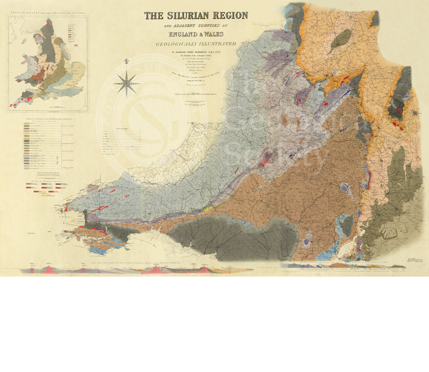 Map of the Silurian Region (Murchison, 1838)