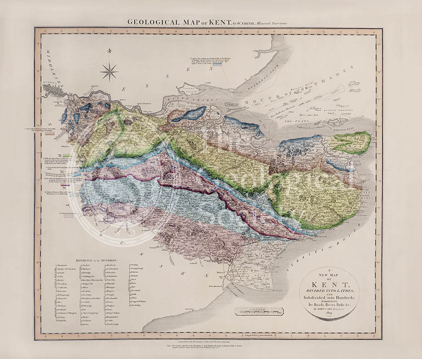 Geological Map of Kent (William Smith, 1819)