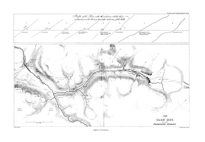 Plan of Glen Roy and of the Parallel Roads (MacCulloch, 1817)