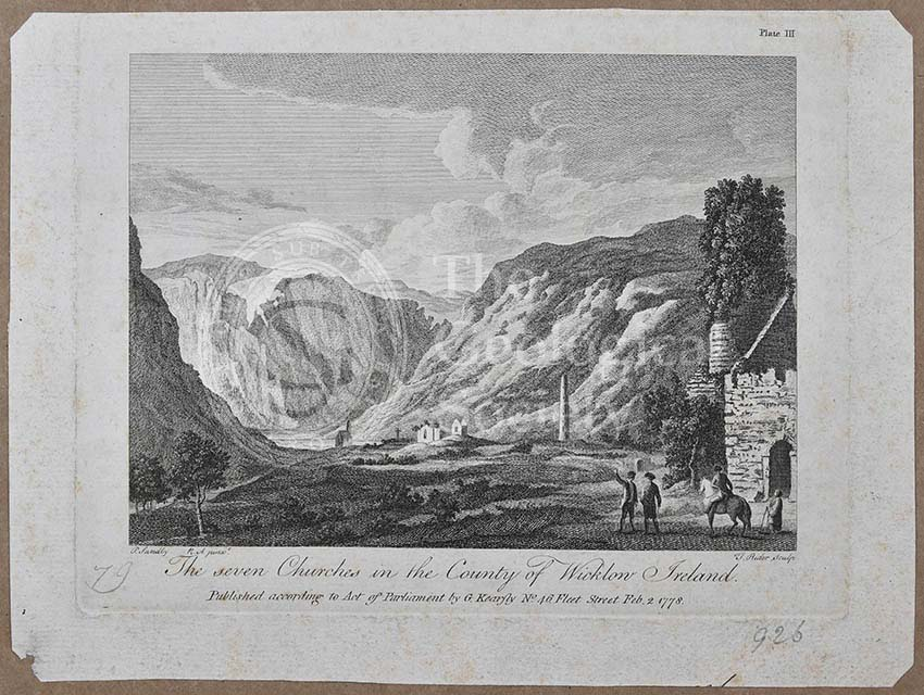 'The seven churches in the County of Wicklow Ireland'