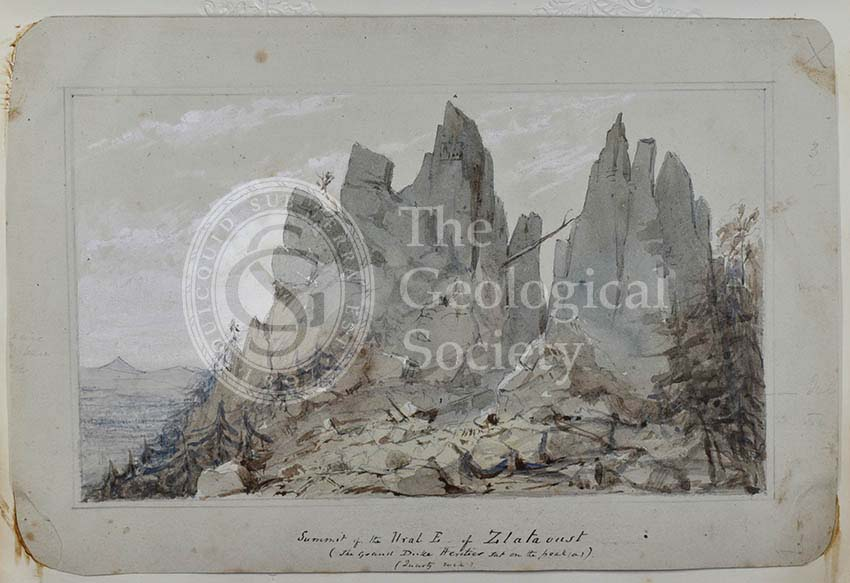 'Summit of the Ural E of Zlatoust'