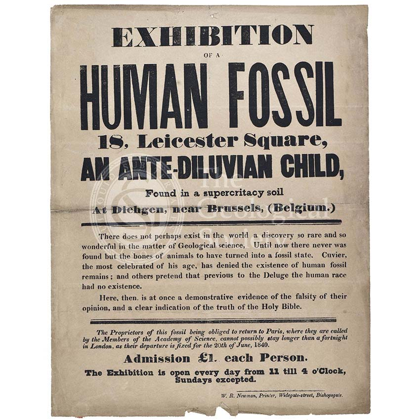 Advertisement for a 'Human Fossil'