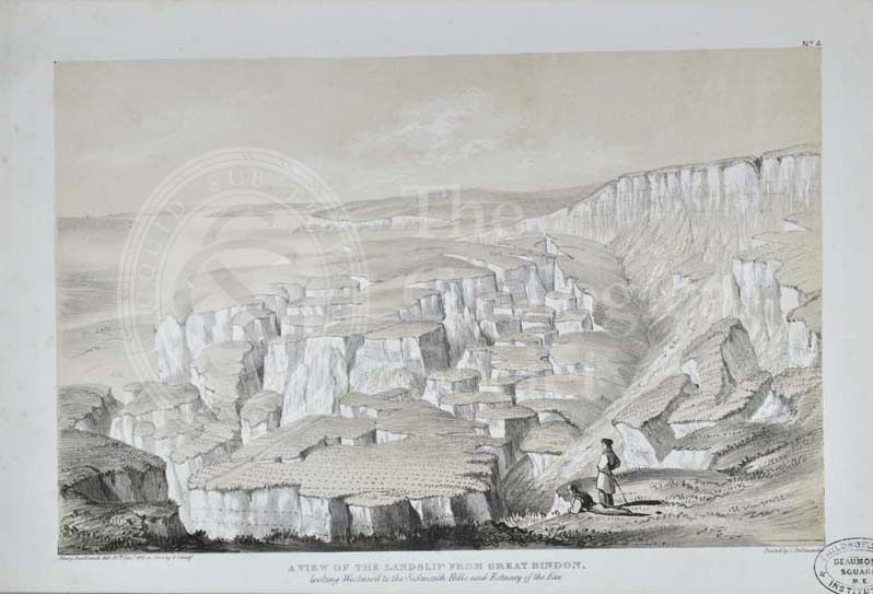 'A view of the landslip from Great Bindon…'