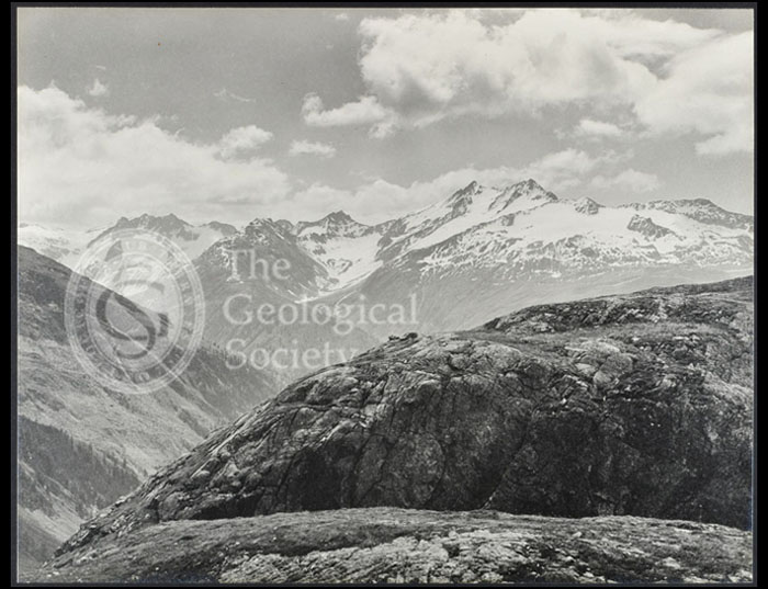 """A view…to the east of the Todtensee near the summit of the Grimsel Pass"""