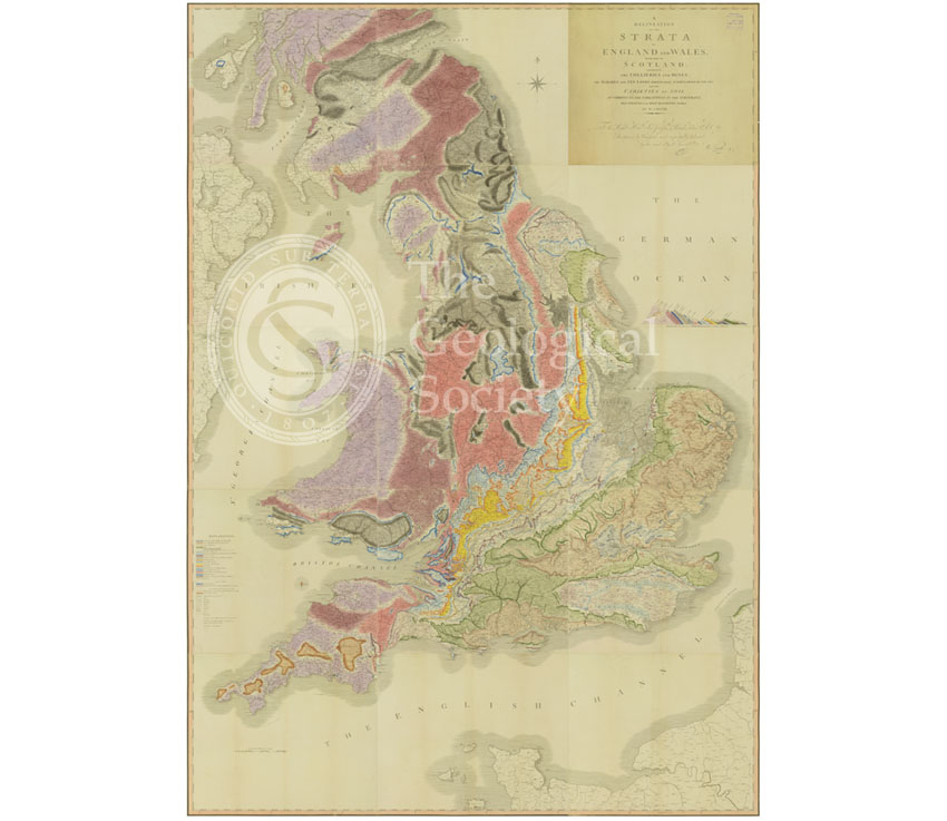 Map Of Uk To Buy.A Delineation Of The Strata Of England And Wales Smith 1815