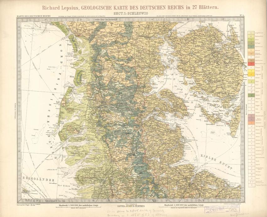 Geologisches Karte des Deutschen Reichs – 1. Schleswig (Lepsius, 1897)