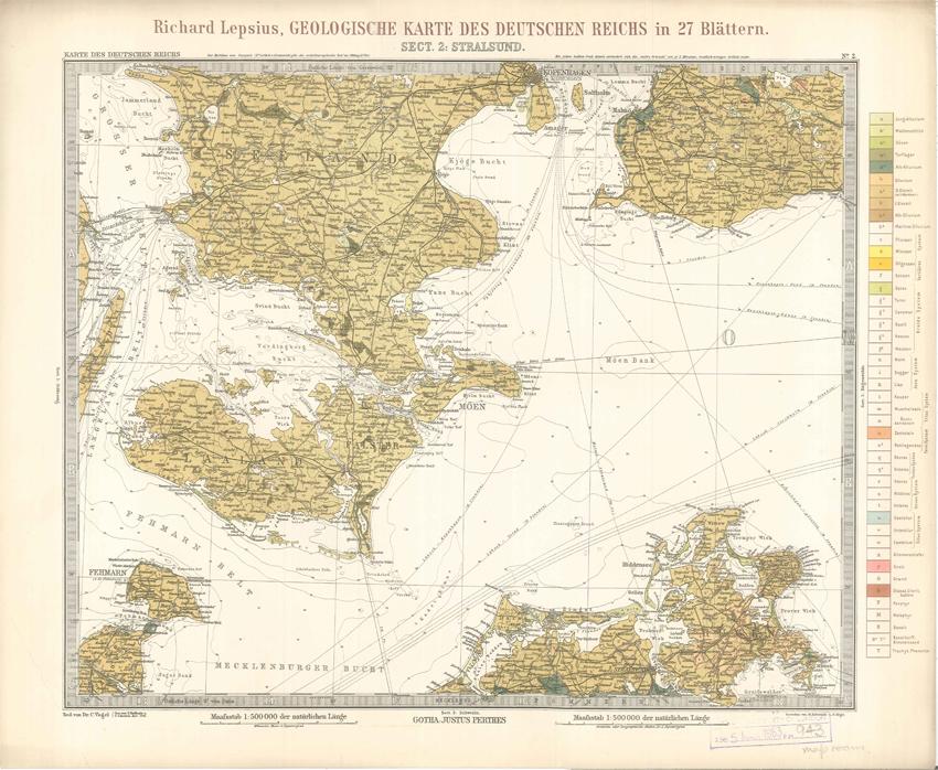 Geologisches Karte des Deutschen Reichs – 2. Stralsund (Lepsius, 1897)