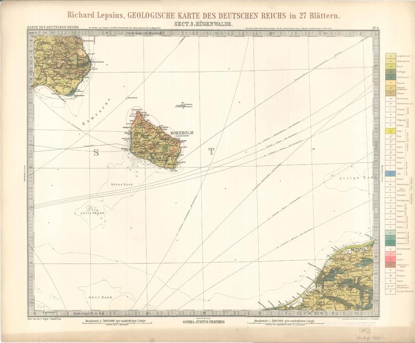 Geologisches Karte des Deutschen Reichs – 3. Rugenwalde (Lepsius, 1897)