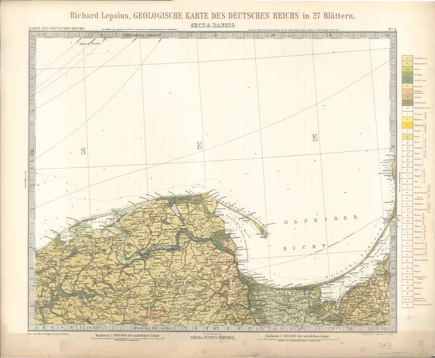 Geologisches Karte des Deutschen Reichs – 4. Danzig (Lepsius, 1897)