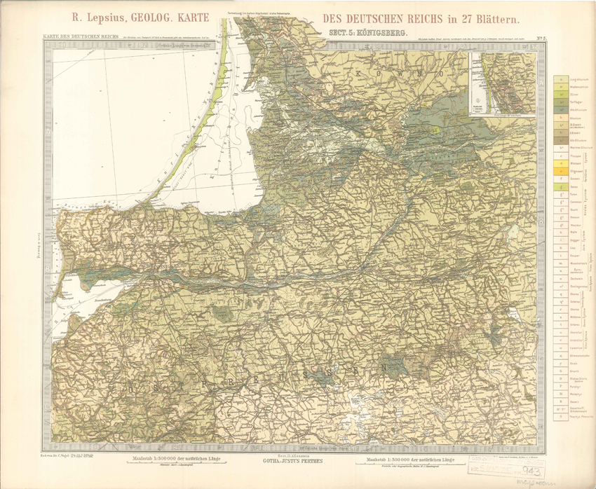 Geologisches Karte des Deutschen Reichs – 5. Konigsberg (Lepsius, 1897)