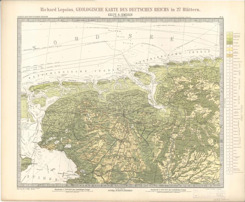 Geologisches Karte des Deutschen Reichs – 6. Emden (Lepsius, 1897)