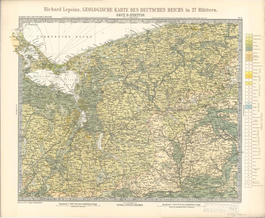 Geologisches Karte des Deutschen Reichs – 9. Stettin (Lepsius, 1897)