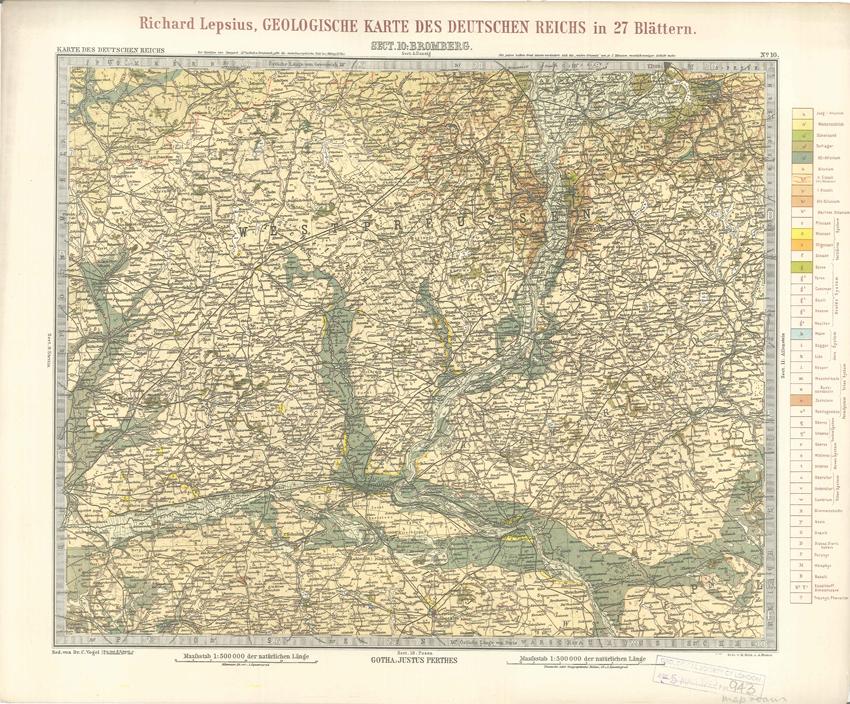 Geologisches Karte des Deutschen Reichs – 10. Bromberg (Lepsius, 1897)