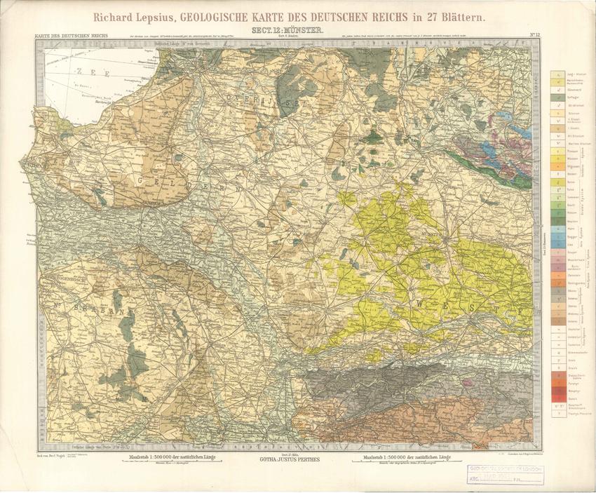 Geologisches Karte des Deutschen Reichs – 12. Munster (Lepsius, 1897)