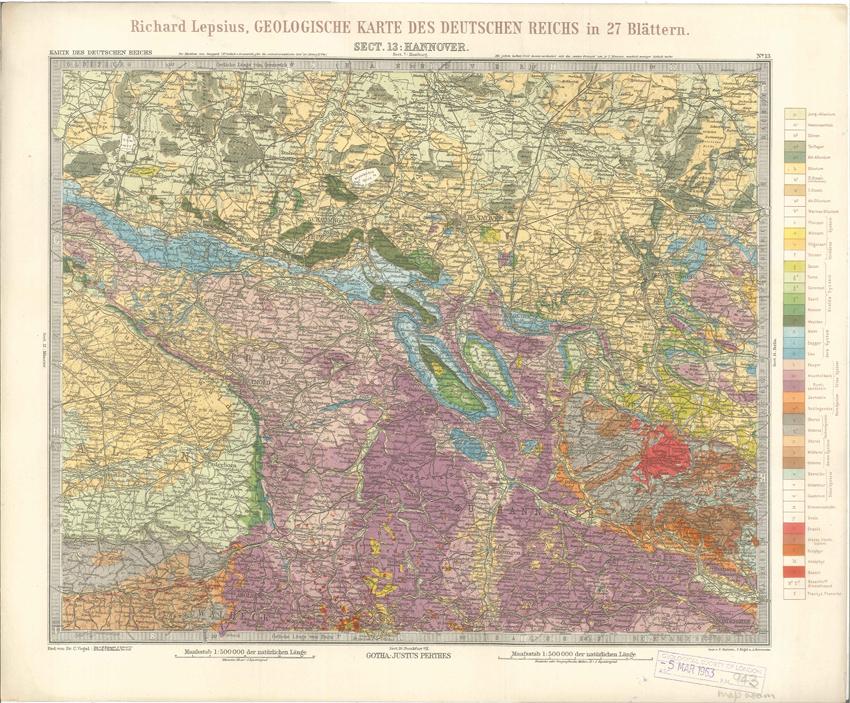 Geologisches Karte des Deutschen Reichs – 13. Hannover (Lepsius, 1897)