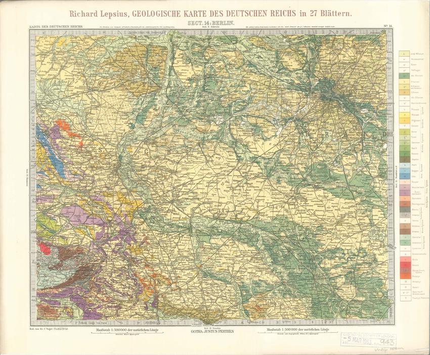 Geologisches Karte des Deutschen Reichs – 14. Berlin (Lepsius, 1897)