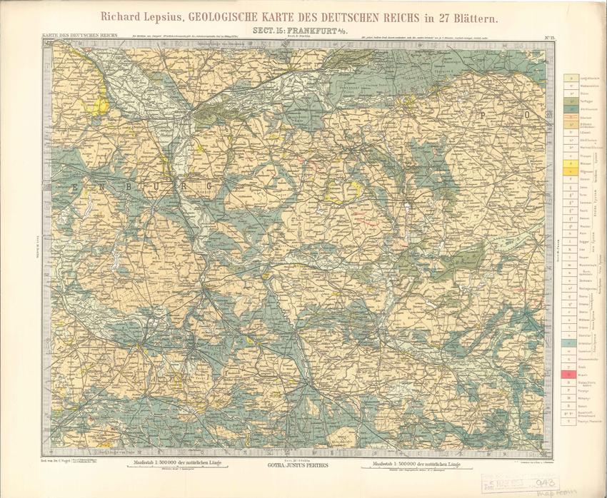 Geologisches Karte des Deutschen Reichs – 15. Frankfurt A-O (Lepsius, 1897)