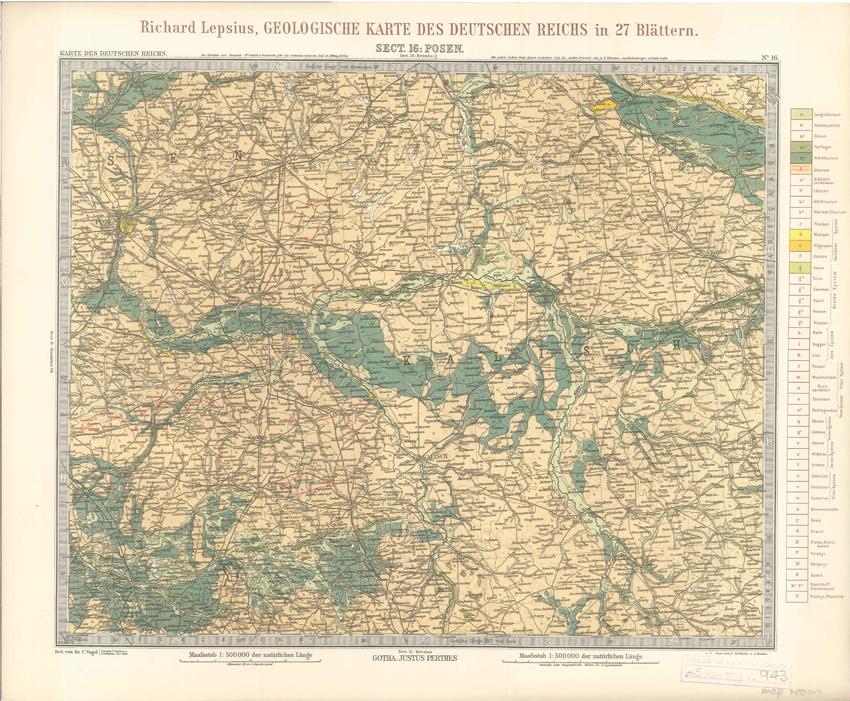 Geologisches Karte des Deutschen Reichs – 16. Posen (Lepsius, 1897)