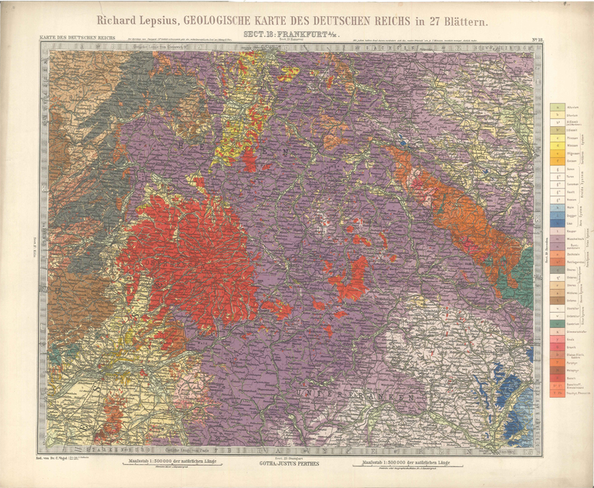Geologisches Karte des Deutschen Reichs – 18. Frankfurt A-M (Lepsius, 1897)