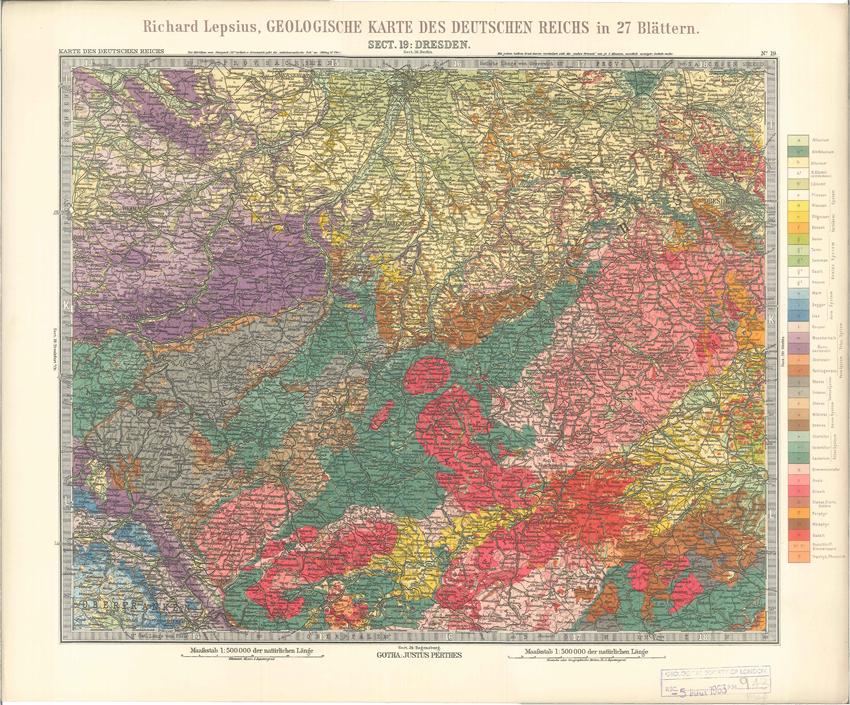 Geologisches Karte des Deutschen Reichs – 19. Dresden (Lepsius, 1897)