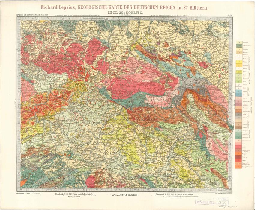 Geologisches Karte des Deutschen Reichs – 20. Gorlitz (Lepsius, 1897)