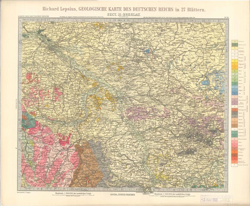 Geologisches Karte des Deutschen Reichs – 21. Breslau (Lepsius, 1897)