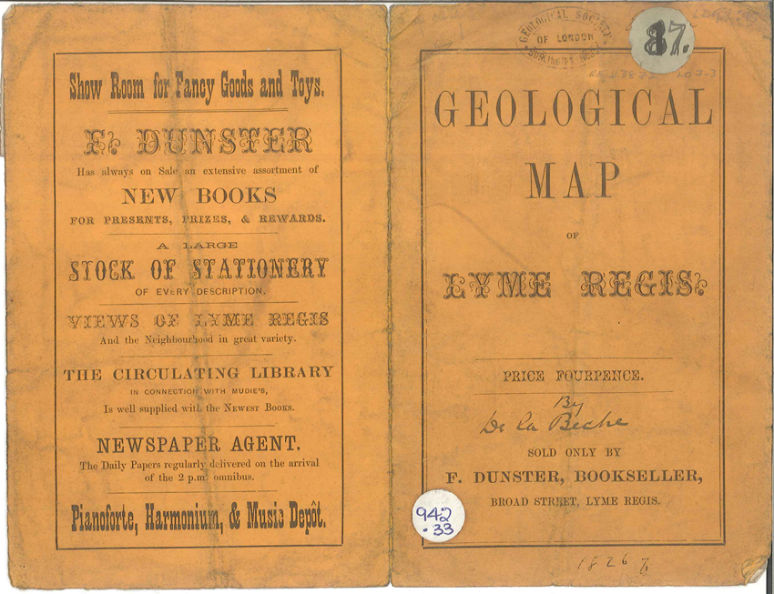 Geological map of the environs of Lyme Reis – Cover (De La Beche, 1826)