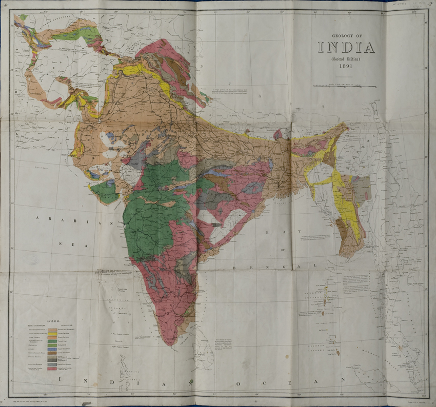 Geological Map of India (Geological Survey of India, 1891)
