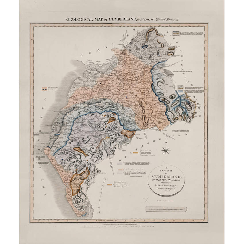Geological map of Cumberland
