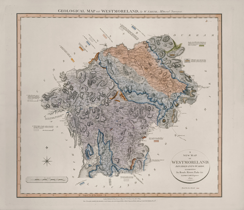 Geological Map of Westmoreland (William Smith, 1824)