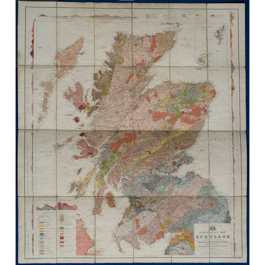 Geological map of Scotland (Geikie, 1910)