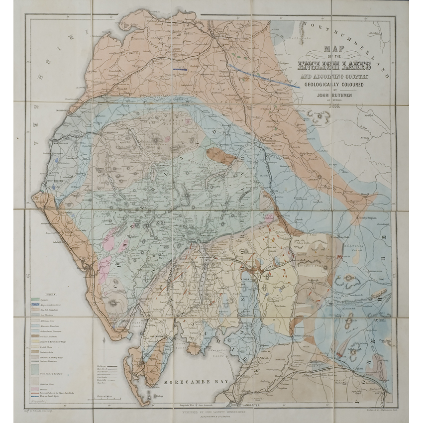 Map of the English Lakes (Ruthven, 1855)