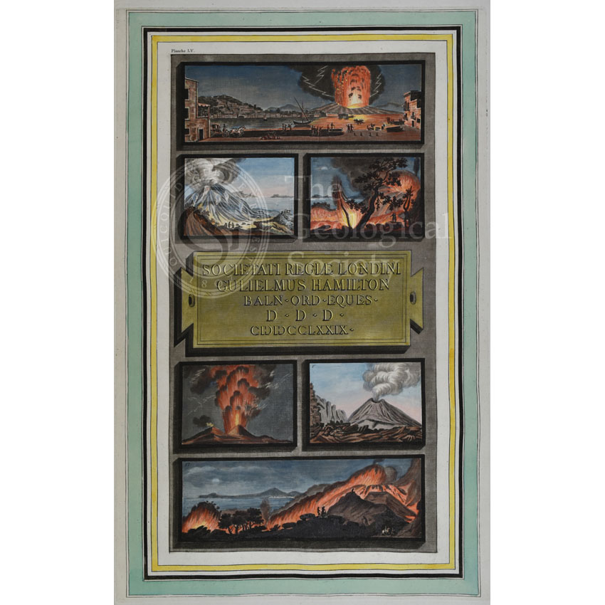 Plate LV: Views of the eruptions of Vesuvius in 1777 and 1779.