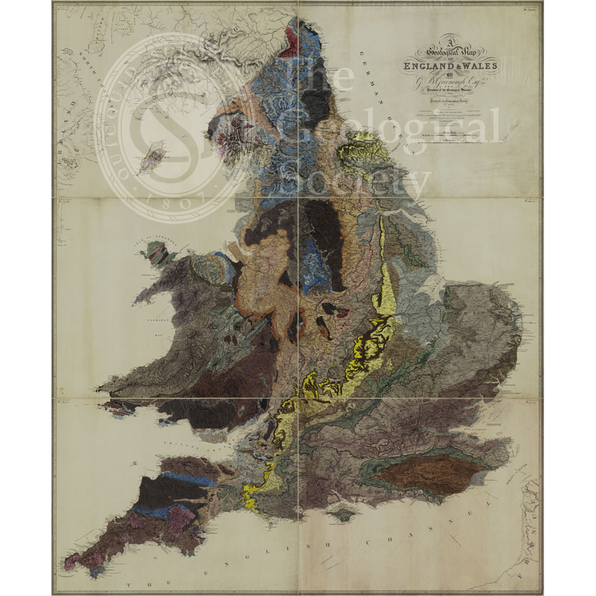 Geological Map of England and Wales (1839)