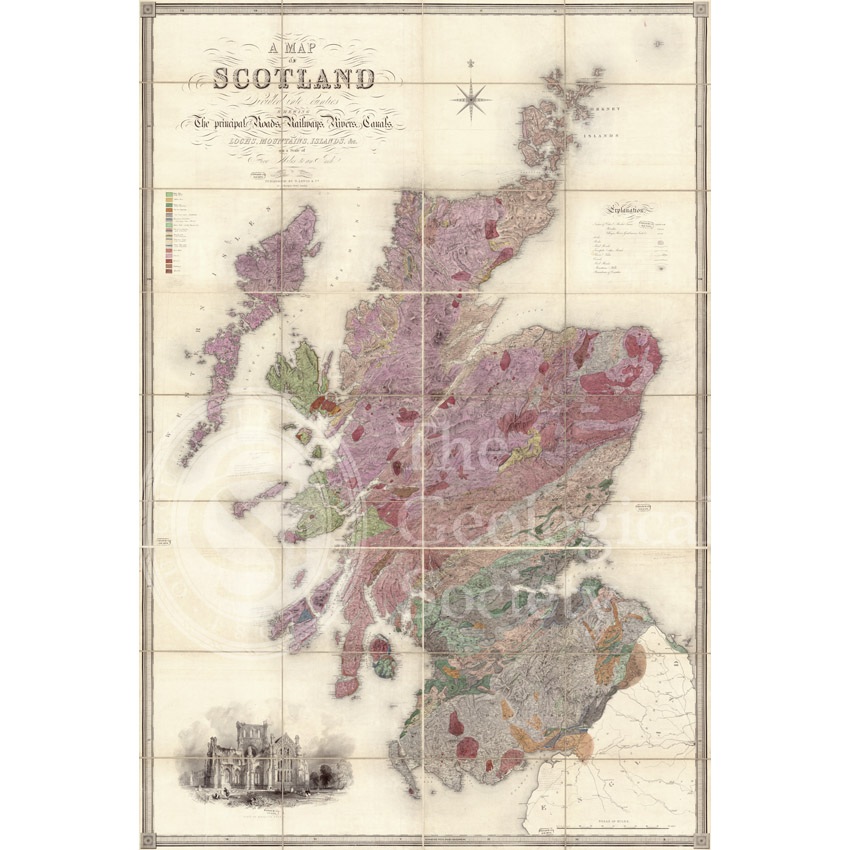 Greenough's and Sharpe's Geological Map of Scotland [1852]