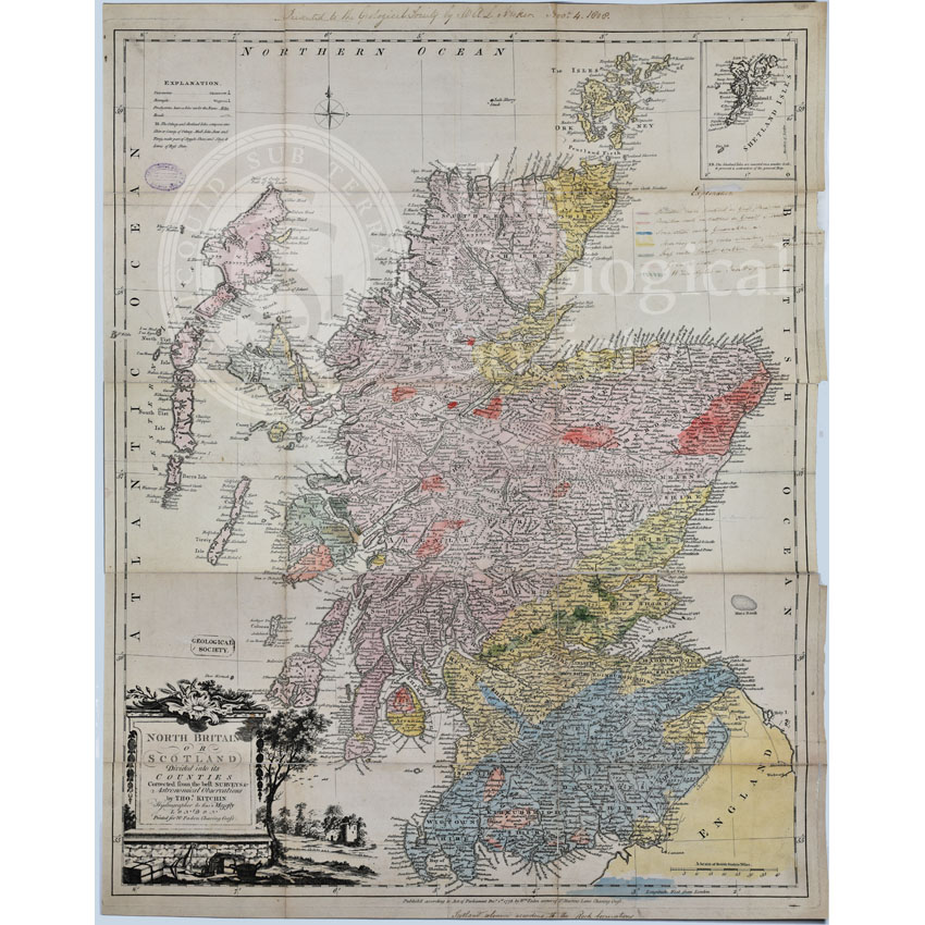 First Geological Map of Scotland [1808]