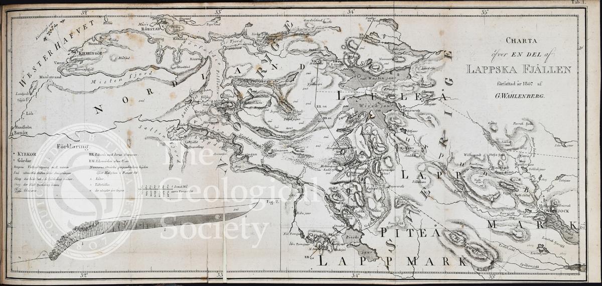 Charta õfver en del af Lappska Fjällen (1807)