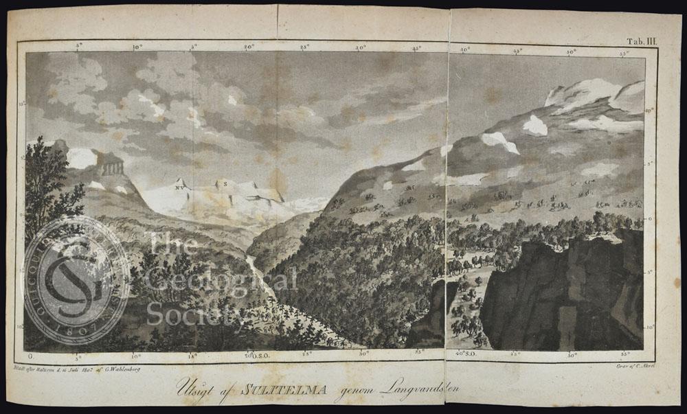 Ustigt af Sulitelma genom Langvandalen, Lapland (1807)